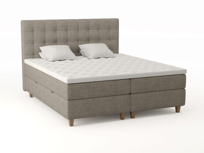 Comfort oppbevaringsseng 180x200 - beige
