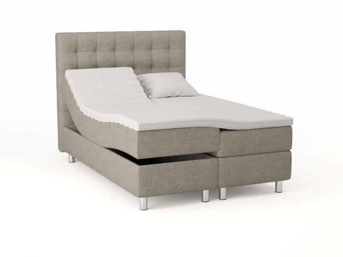 Comfort regulerbar seng 140x200 - beige