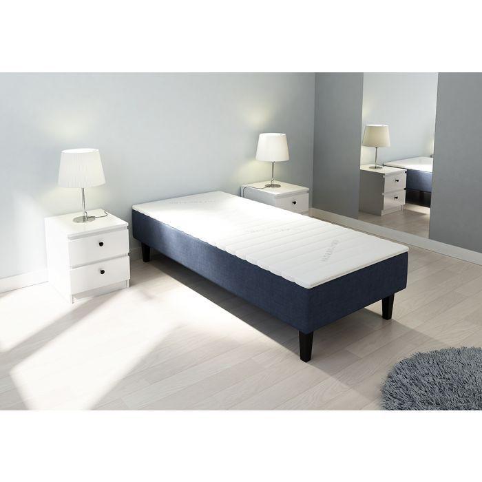 Rammemadrass 90x200cm, mørk blå