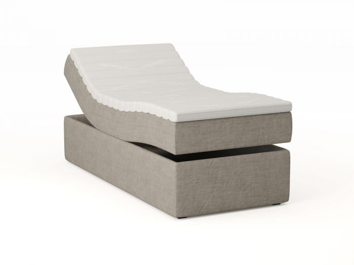 Premium regulerbar seng 90x200 - beige
