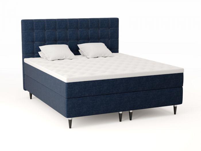 Comfort kontinentalseng 180x210 - mørk blå