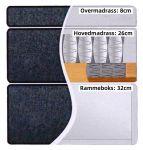 Comfort seng med oppbevaring 80x200 - lys grå